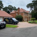 Front of house showing our vans